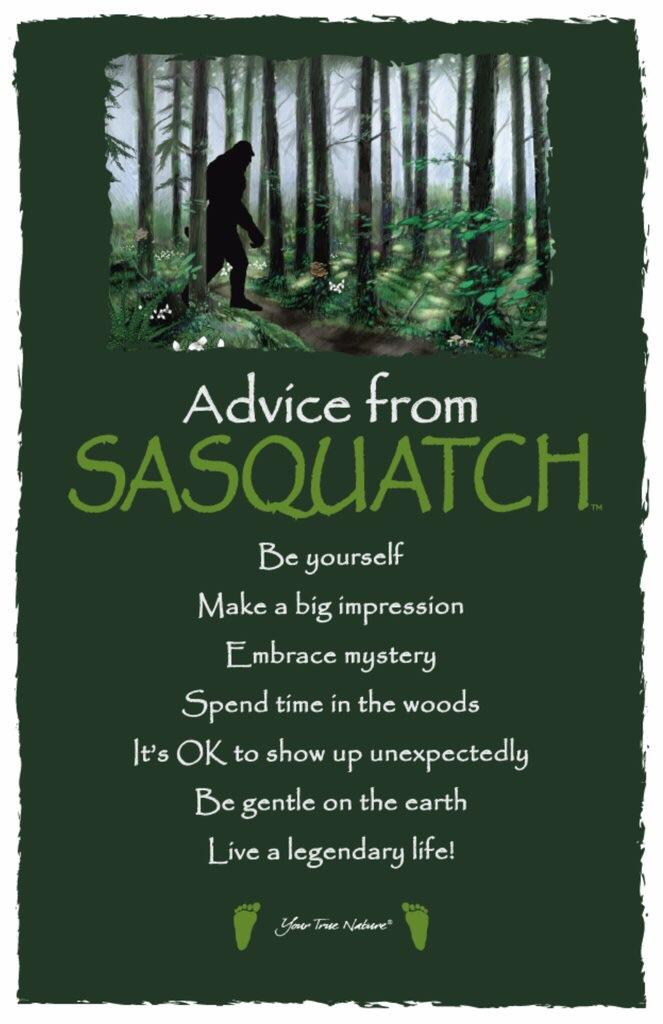 [IMAGE] Advice from Sasquatch