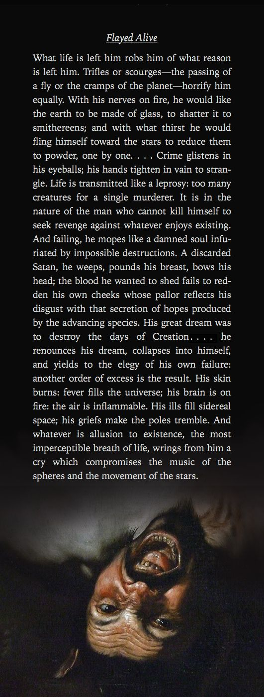 Flayed Alive ―Emil Cioran, A Short History of Decay [531×1401] [OC]