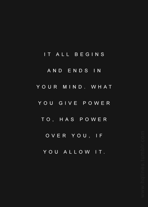 [Image] It All Begins In Your Mind