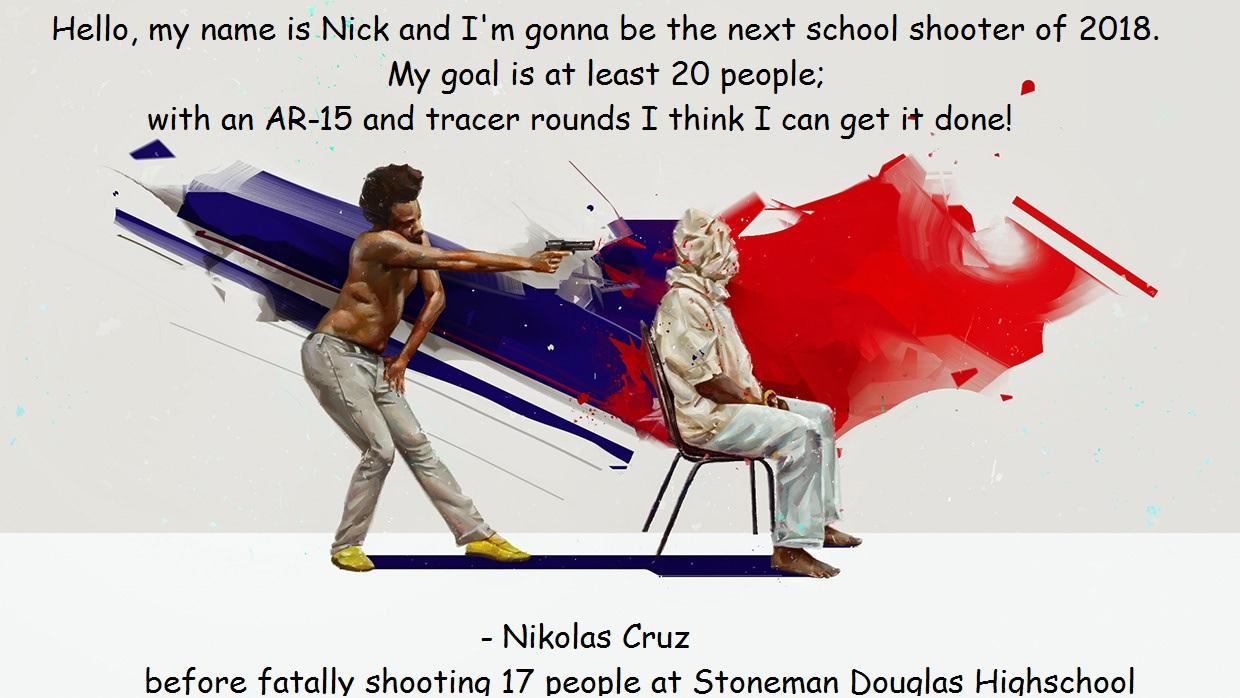 """I'm going to be the next school shooter of 2018… – Nikolas Cruz [1240×698]"