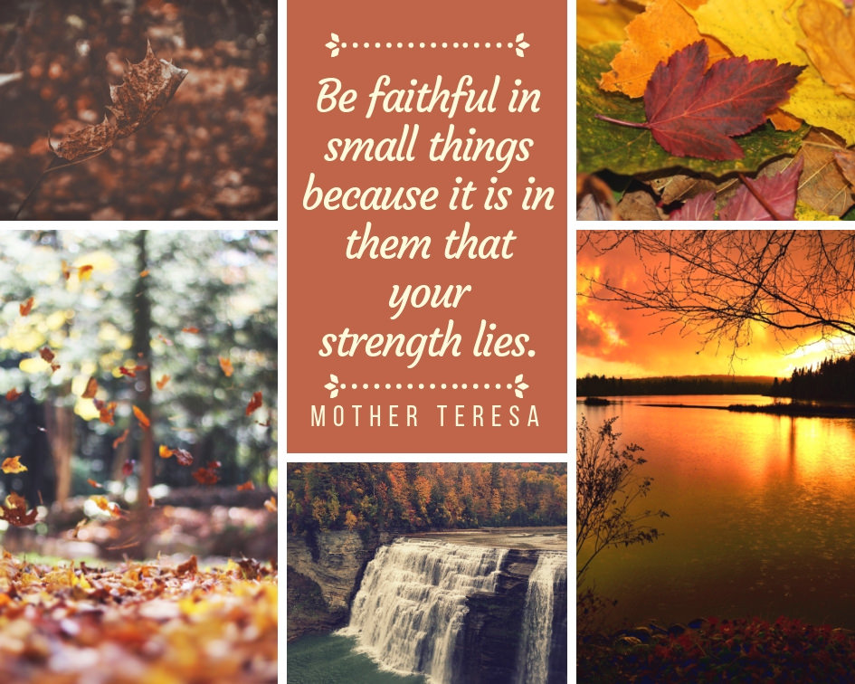 """Be faithful in small things because it is in them that your strength lies."" – Mother Teresa [945 × 756] [OS] [OC]"