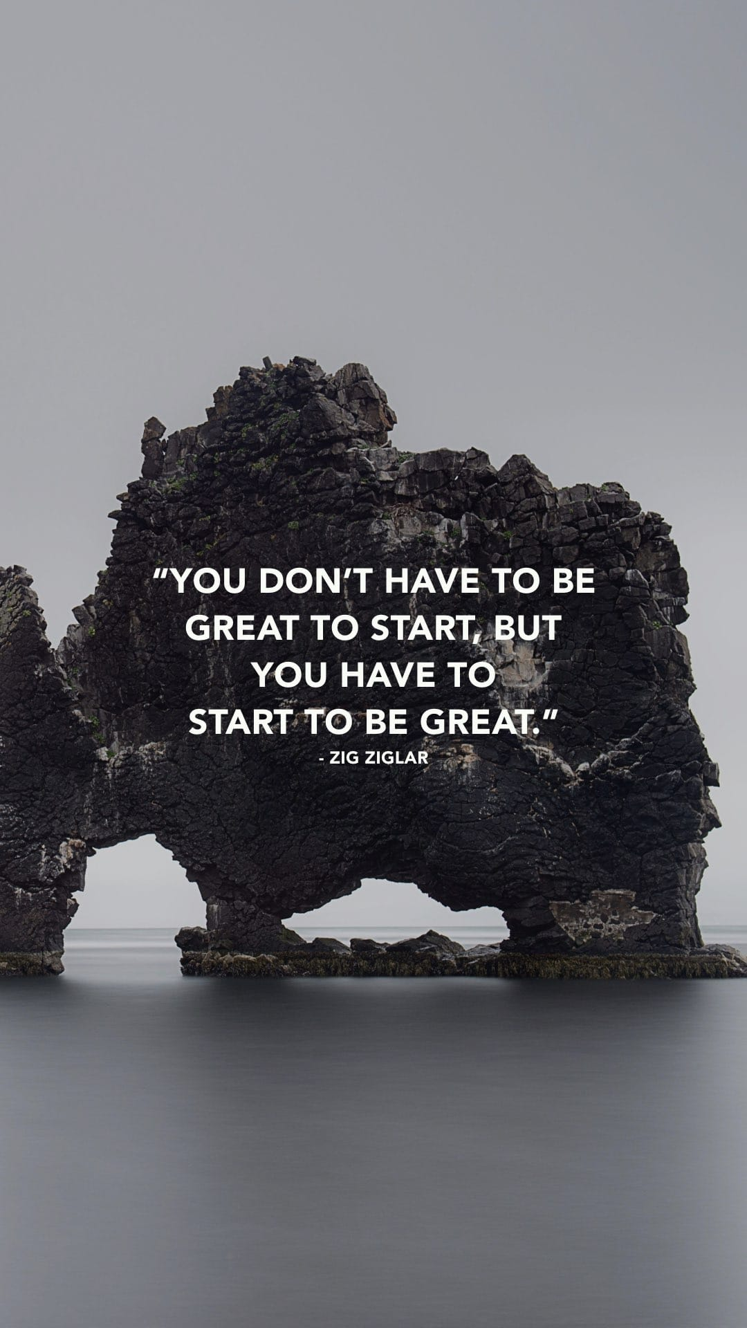 "[Image] Phone wallpaper: ""You don't need to be great to start, but you need to start to be great."" Please, share with me ONE small goal you're going to accomplish this week that will take you closer to success."