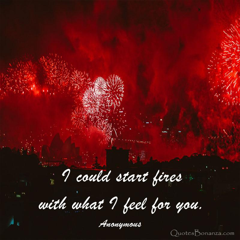 I Could Start Fires With What I Feel For You – Anonymous [800×800]