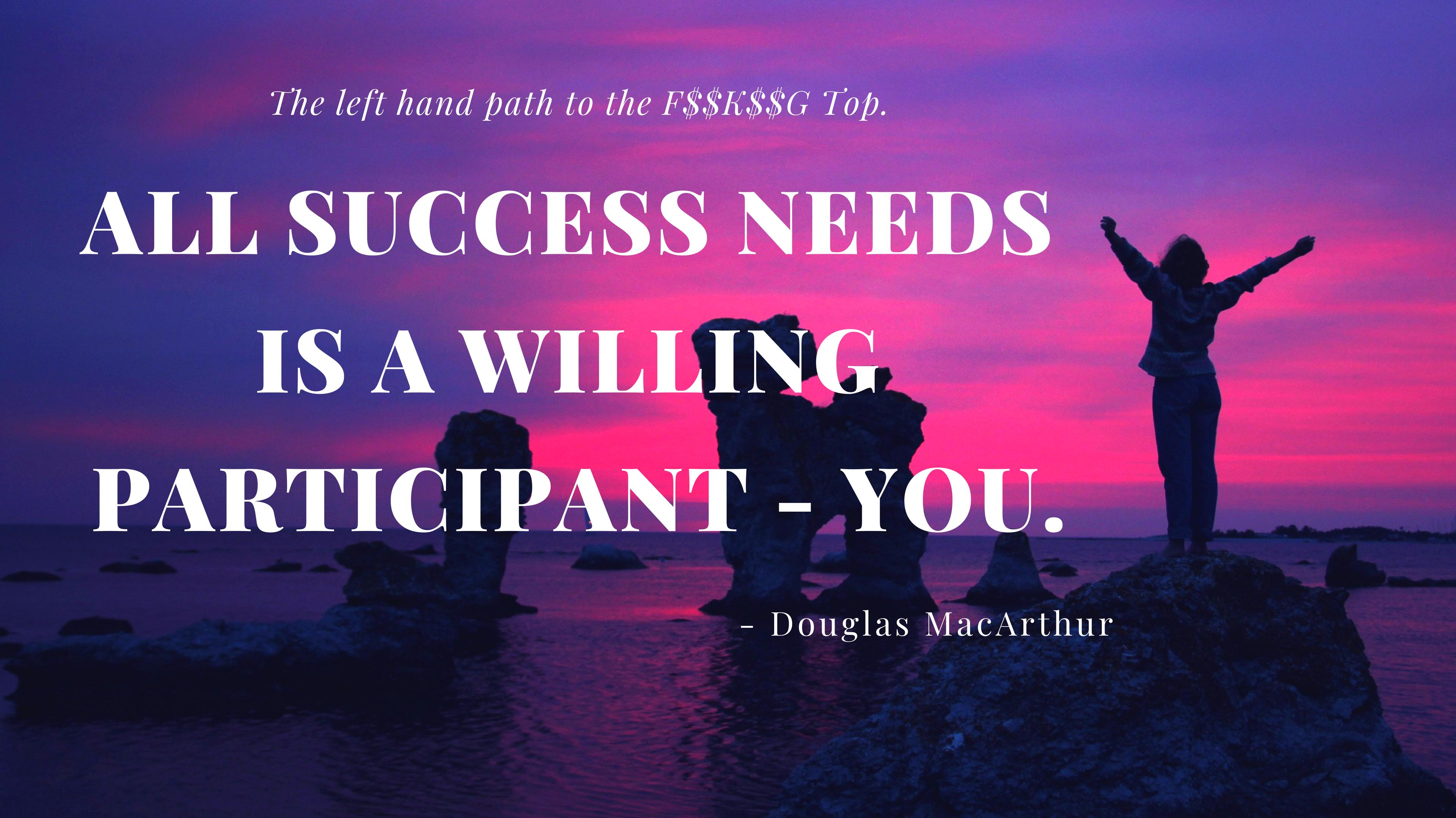 All success needs – Douglas MacArthur [3840 x 2160] [OC]