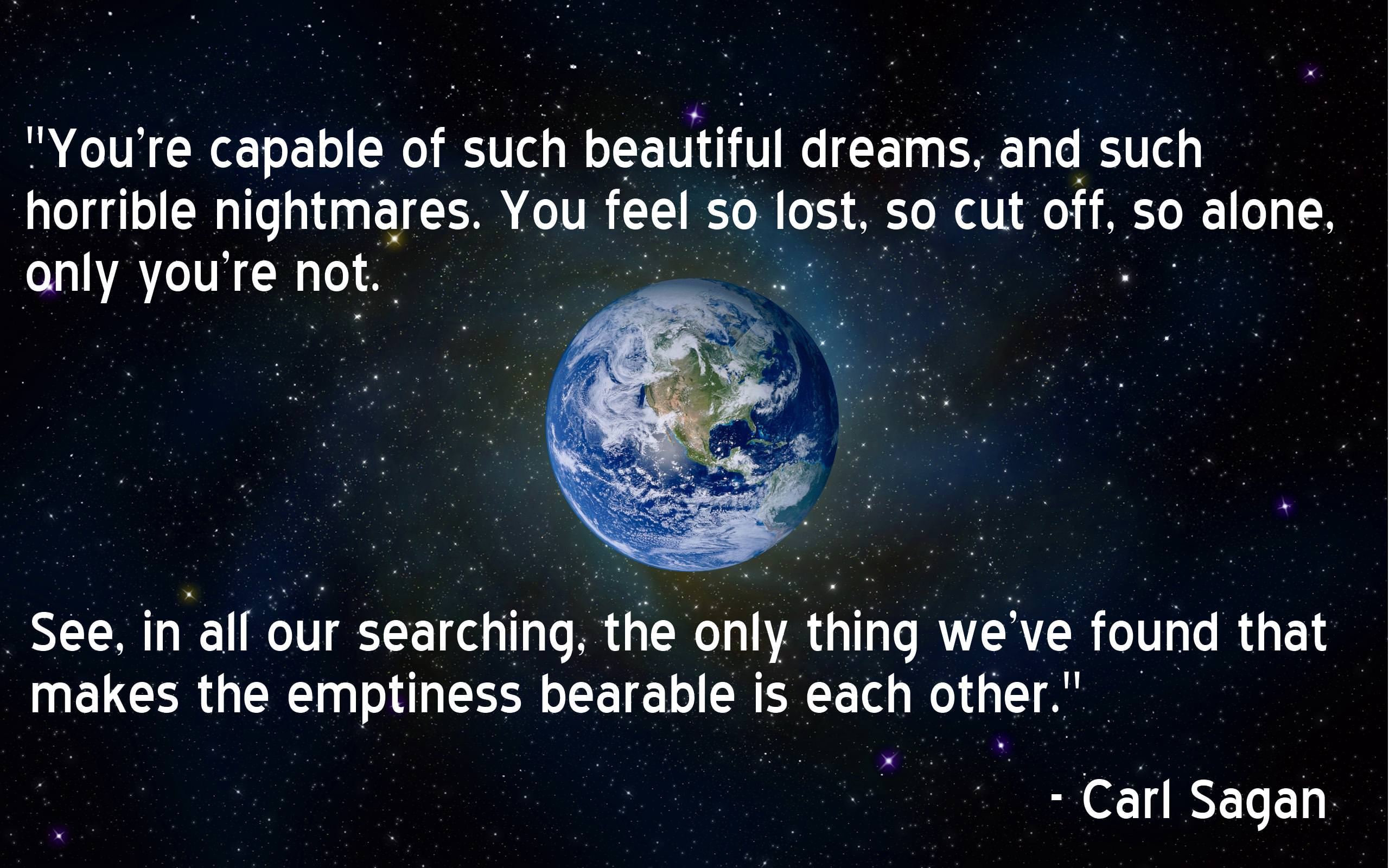 [Image]Carl Sagan on the human civilization