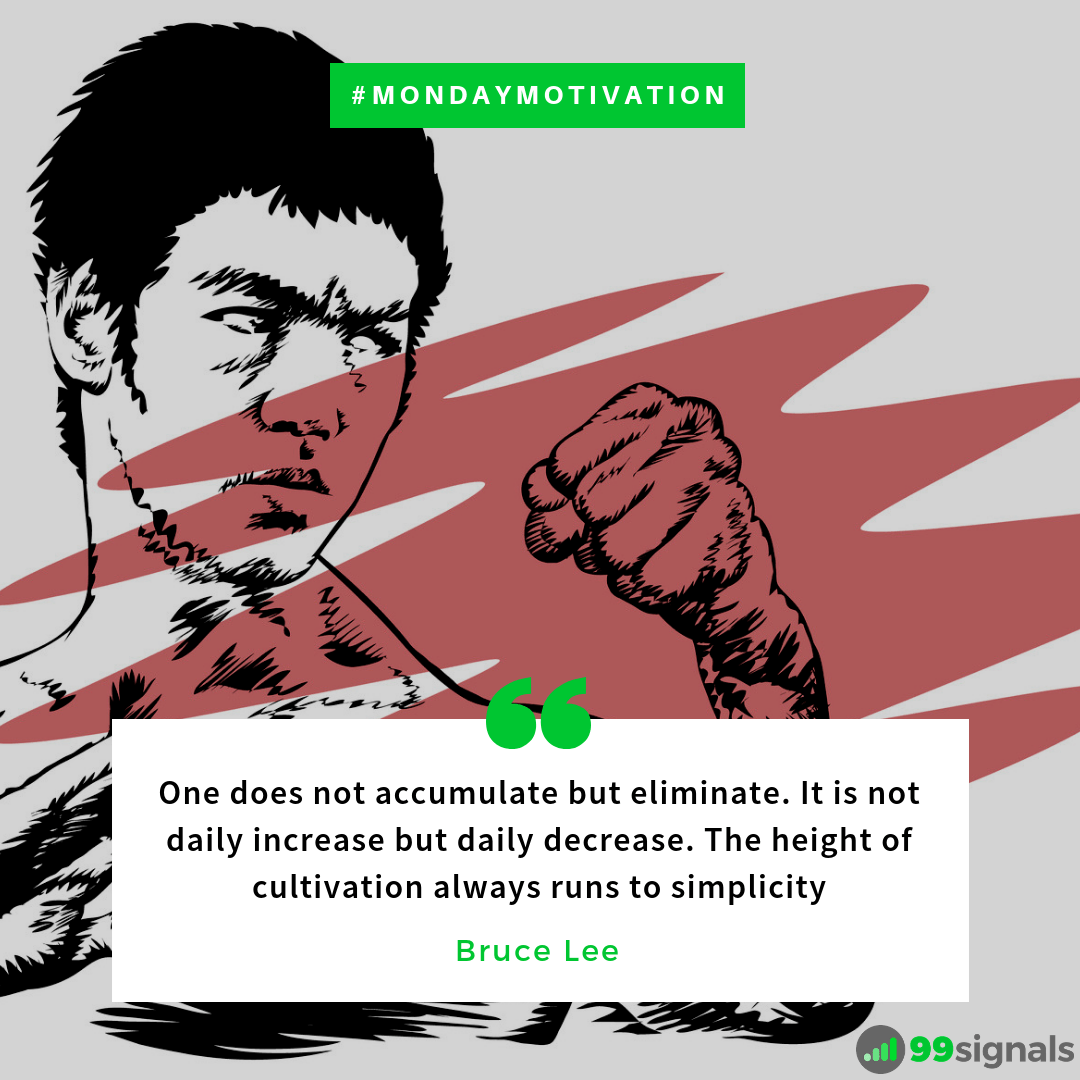 """One does not accumulate but eliminate…"" – Bruce Lee [1080×1080]"