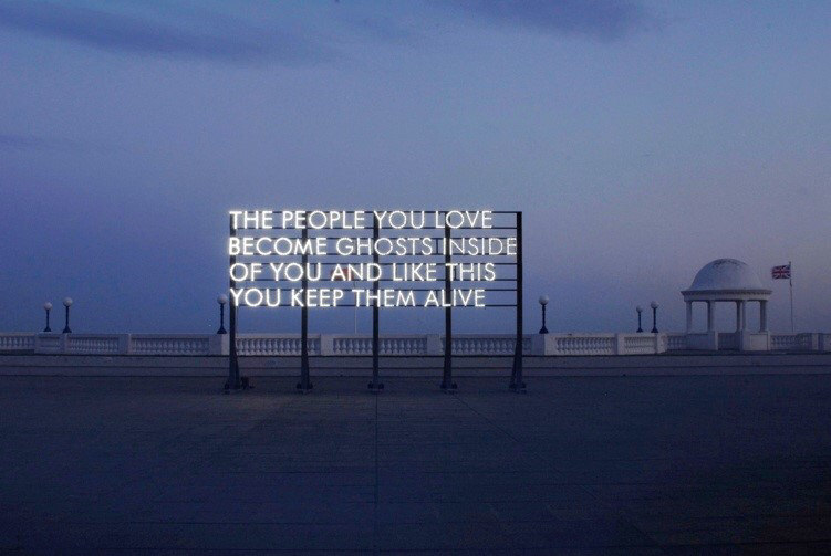 """The people you love become ghosts inside of you and like this you keep them alive."" -Robert Montgomery [751×503]"