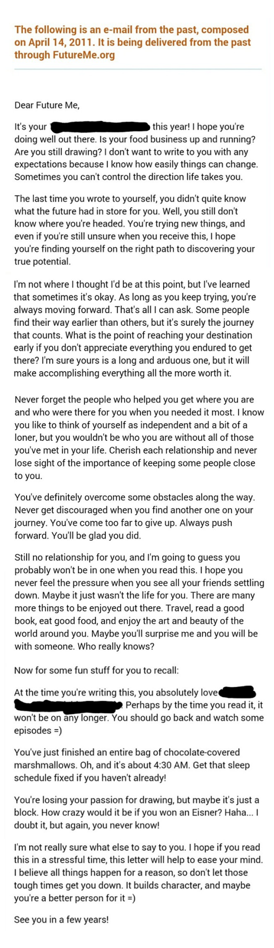 [Image] Got this in my e-mail when I was going through a bit of a rough time. I'd totally forgotten about it, but it came when I needed it most.