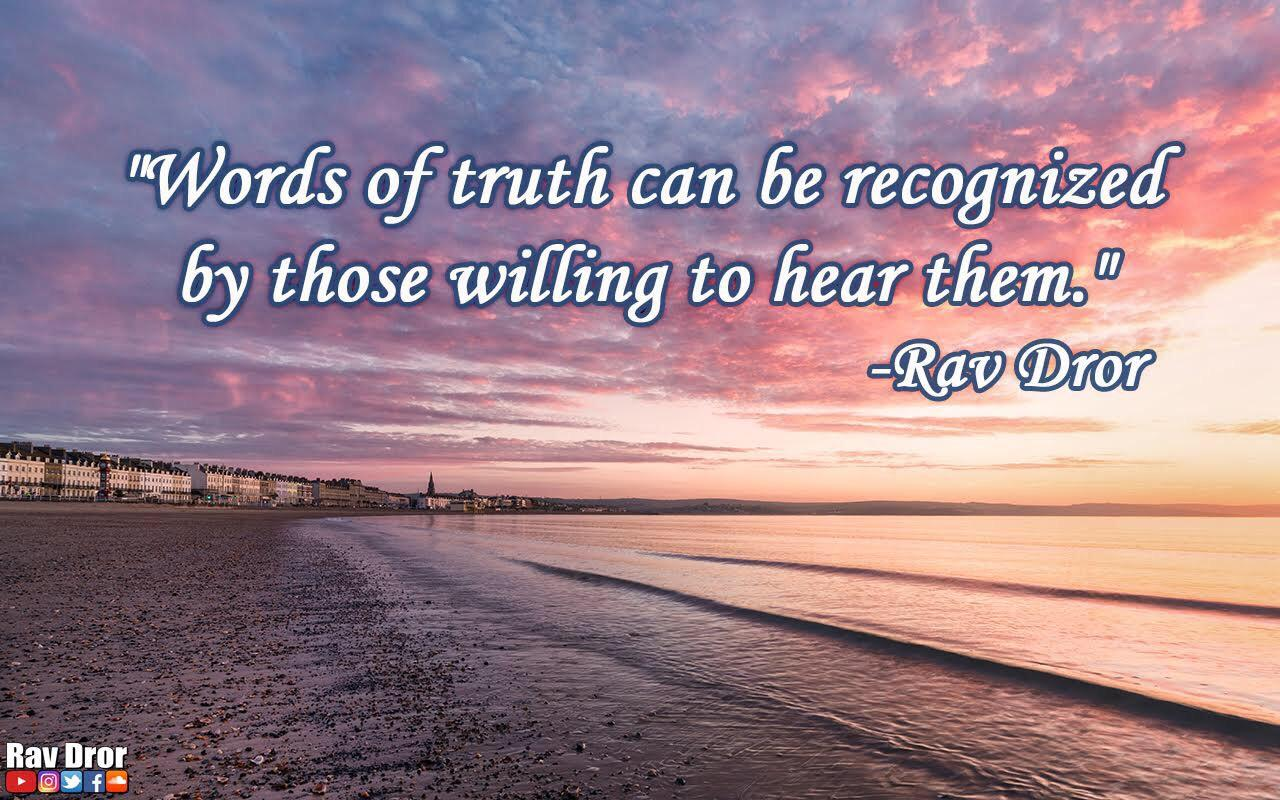 """Words is truth…"" -Rav Dror Moshe Cassouto [1100•800]"