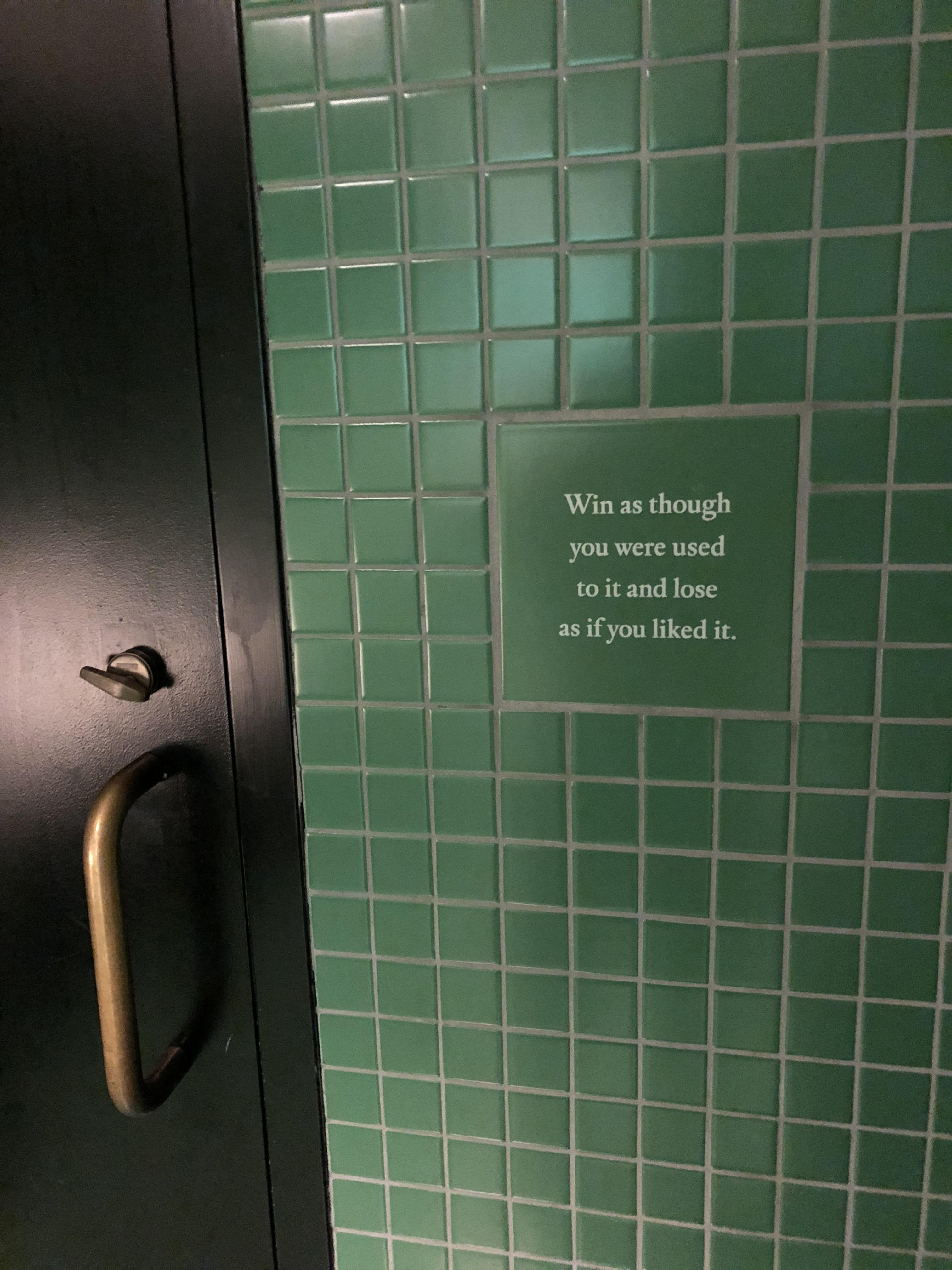 [image] On the bathroom wall