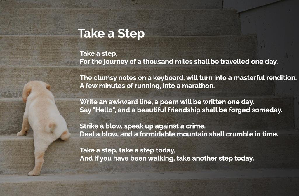 [Image] Take a step