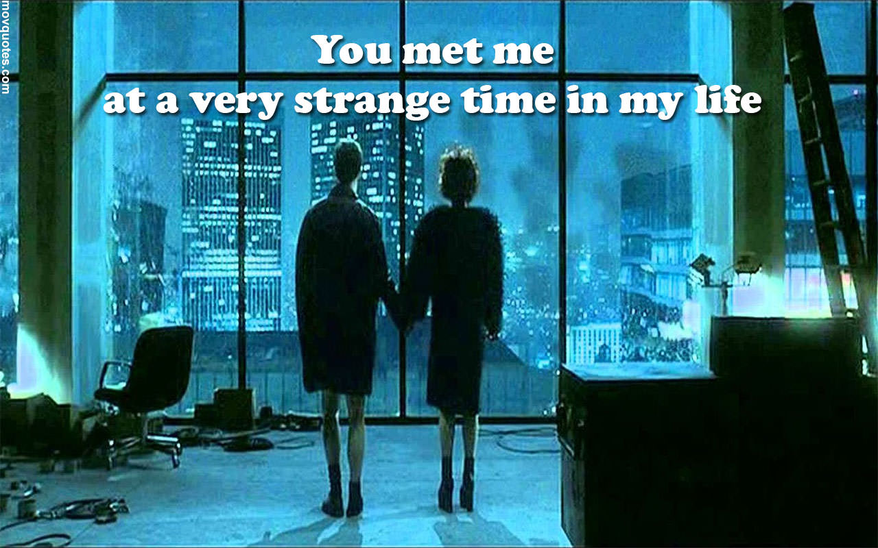 """You met me at a very strange time in my life."" ― Chuck Palahniuk, Fight Club [1280 x 800]"