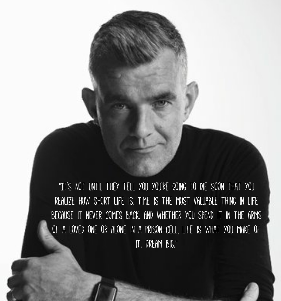 """Life is what you make of it. Dream big."" Stefán Karl Stefánsson (RIP) [981×1051] [OC]"