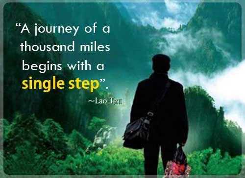 [Image] Your journey begins with a single step