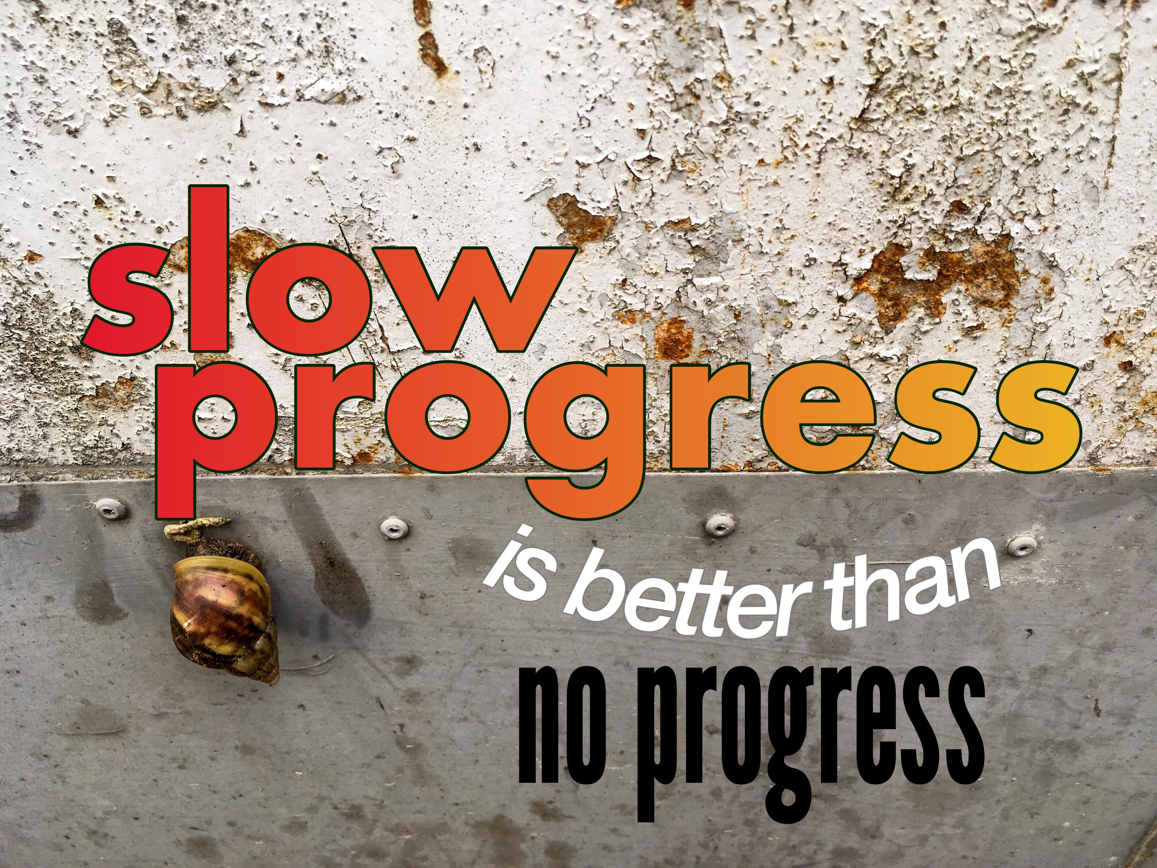 """Slow progress is better than no progress."" —Jami Gold [4032×3024] [OC]"