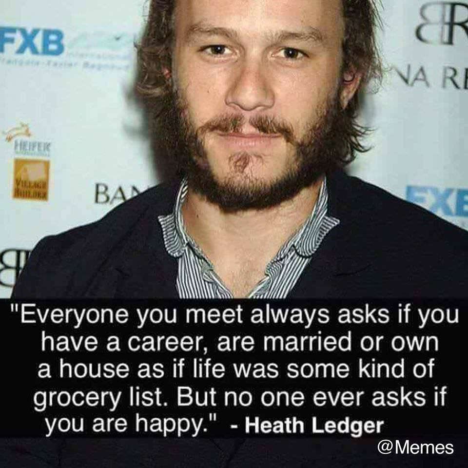 [Image]Life isn't some kind of grocery list. Strive to be happy.