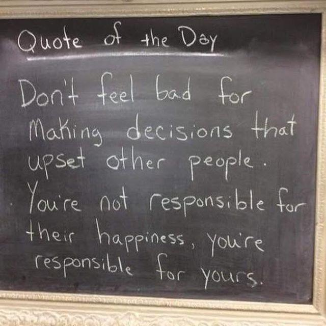 [image] We don't have the power to make everyone happy. Taking on that kind of responsibility is extremely destructive to your happiness and well-being. You are worth happiness!!!