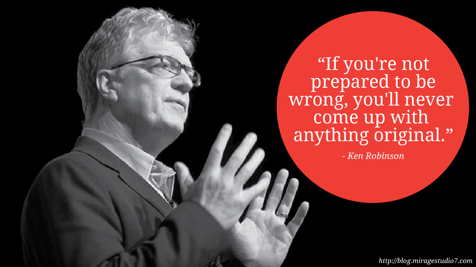 """If you're not prepared to be wrong…"" [1920 x 1080]"