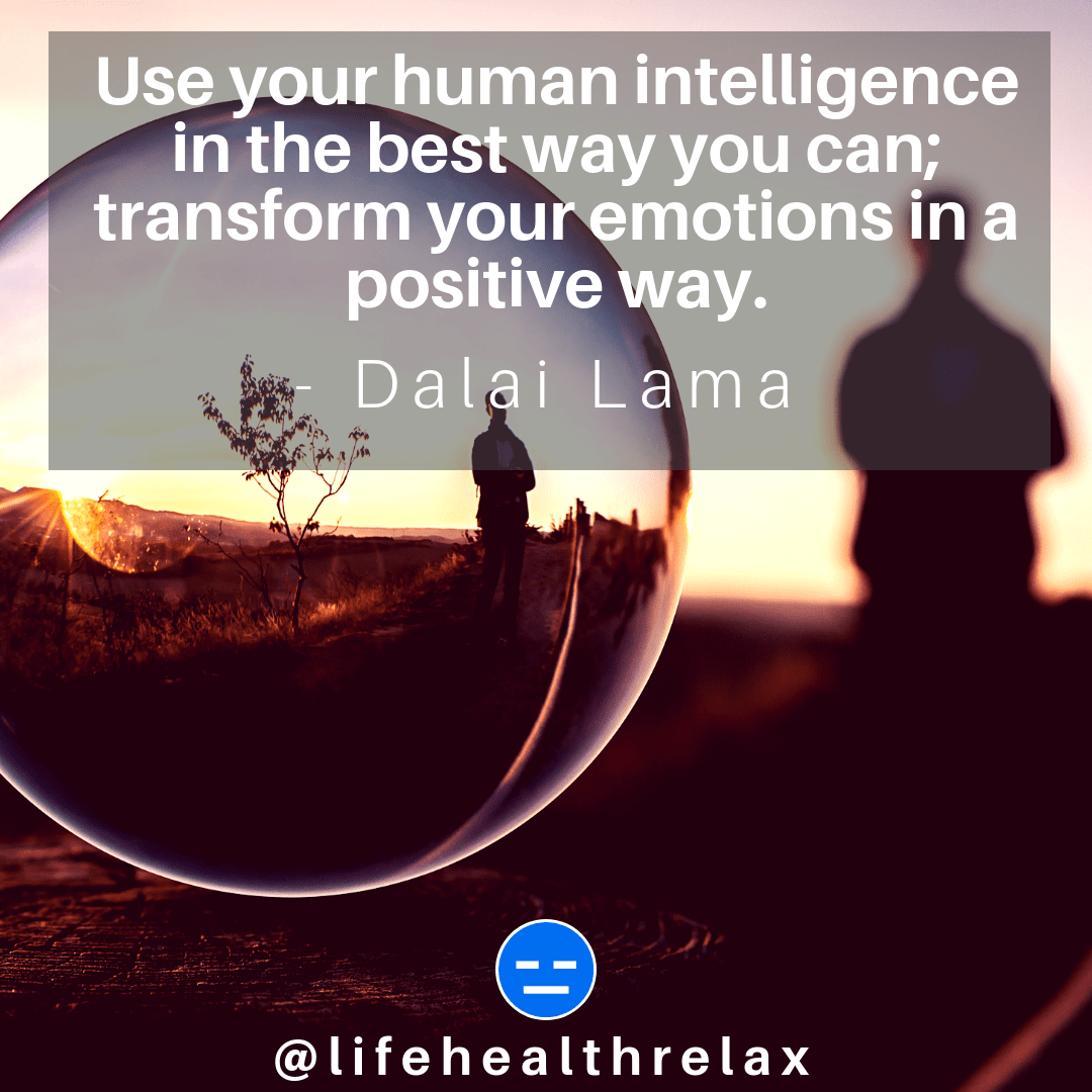 [Image] Use your human intelligence in the best way you can; transform your emotions in a positive way. – Dalai Lama