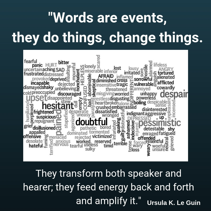 """Words are events, they do things, change things."" – Ursula K. Le Guin [800 × 800] [OS]"