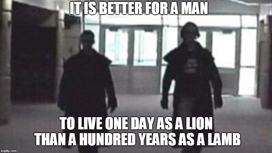[IMAGE] Society confines them, Courage defines them. An inspirational quotes by Mussolini