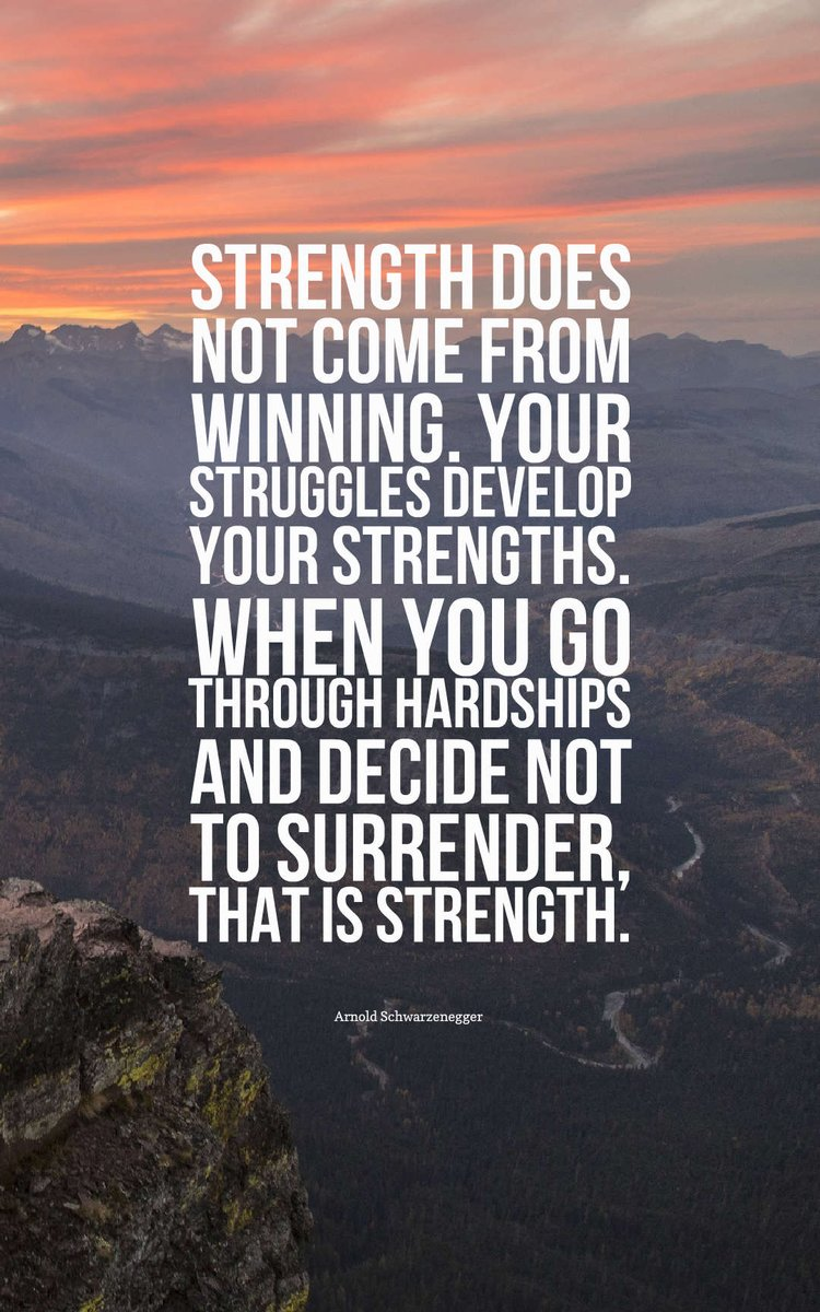 [Image] Strength does not come from winning