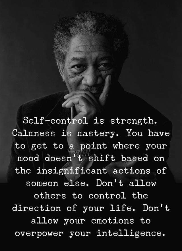 You are in control of you [image]