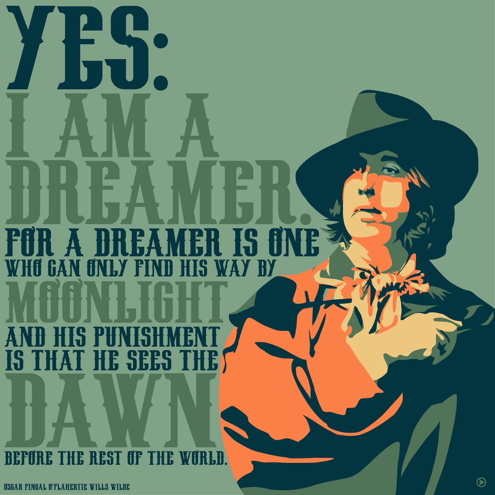 """Yes: I am a dreamer…"" – Oscar Wilde [2000×2000] [OC] [OS]"