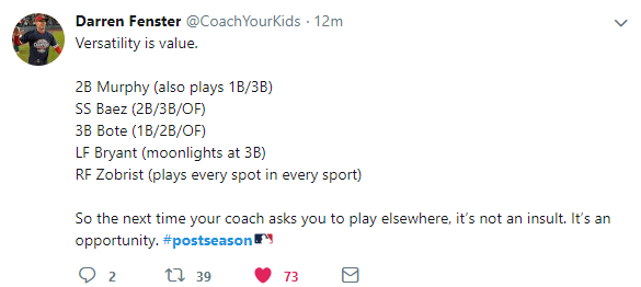 [Image] A tweet I saw during the NL Wildcard game, that some young players should appreciate!