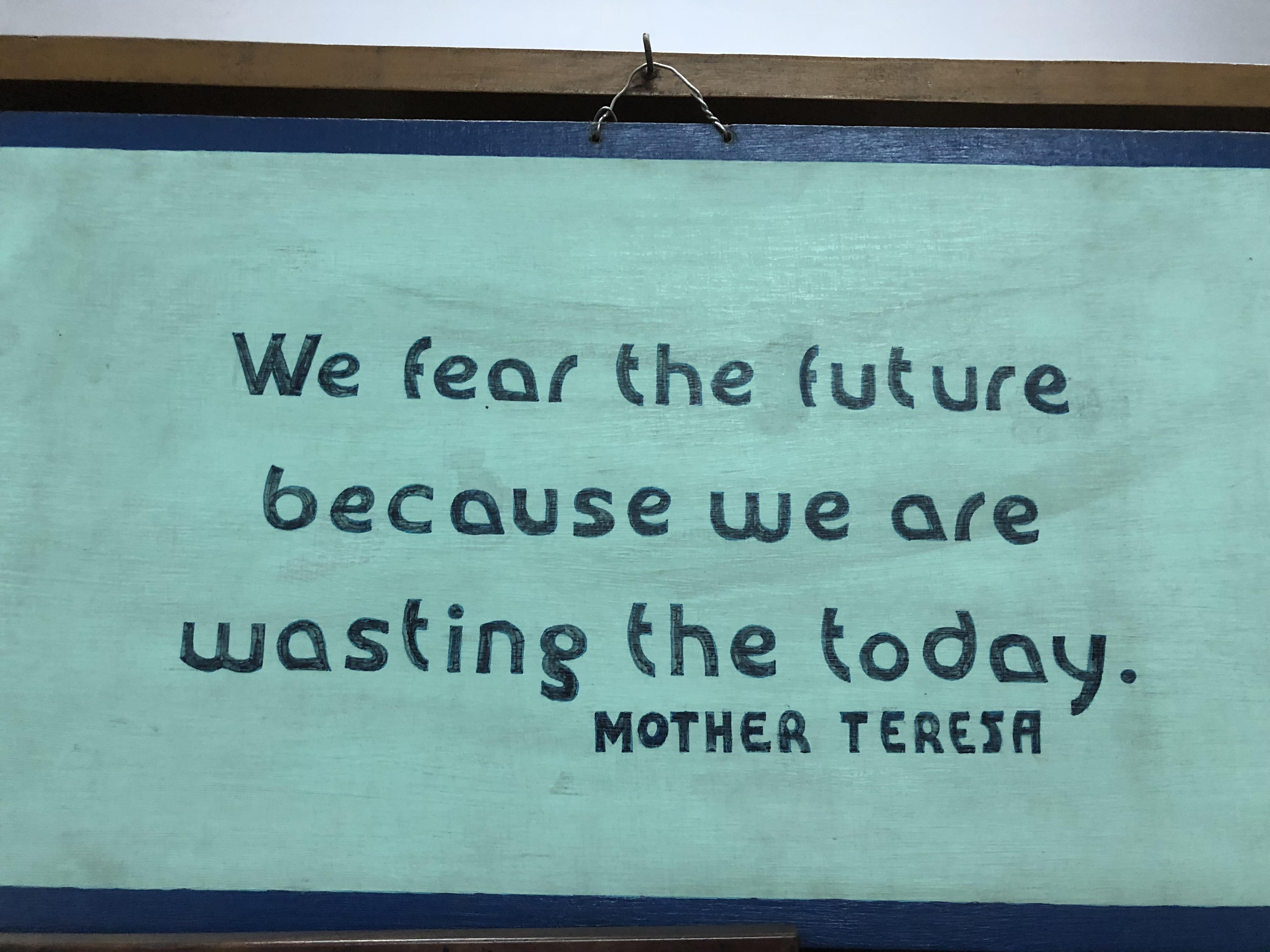 [IMAGE] Visited Mother Teresa's House in Calcutta, saw this sign:
