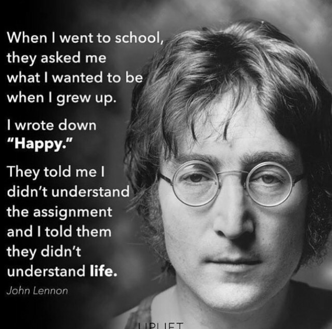 [Image] Imagine all the people living life in peace.