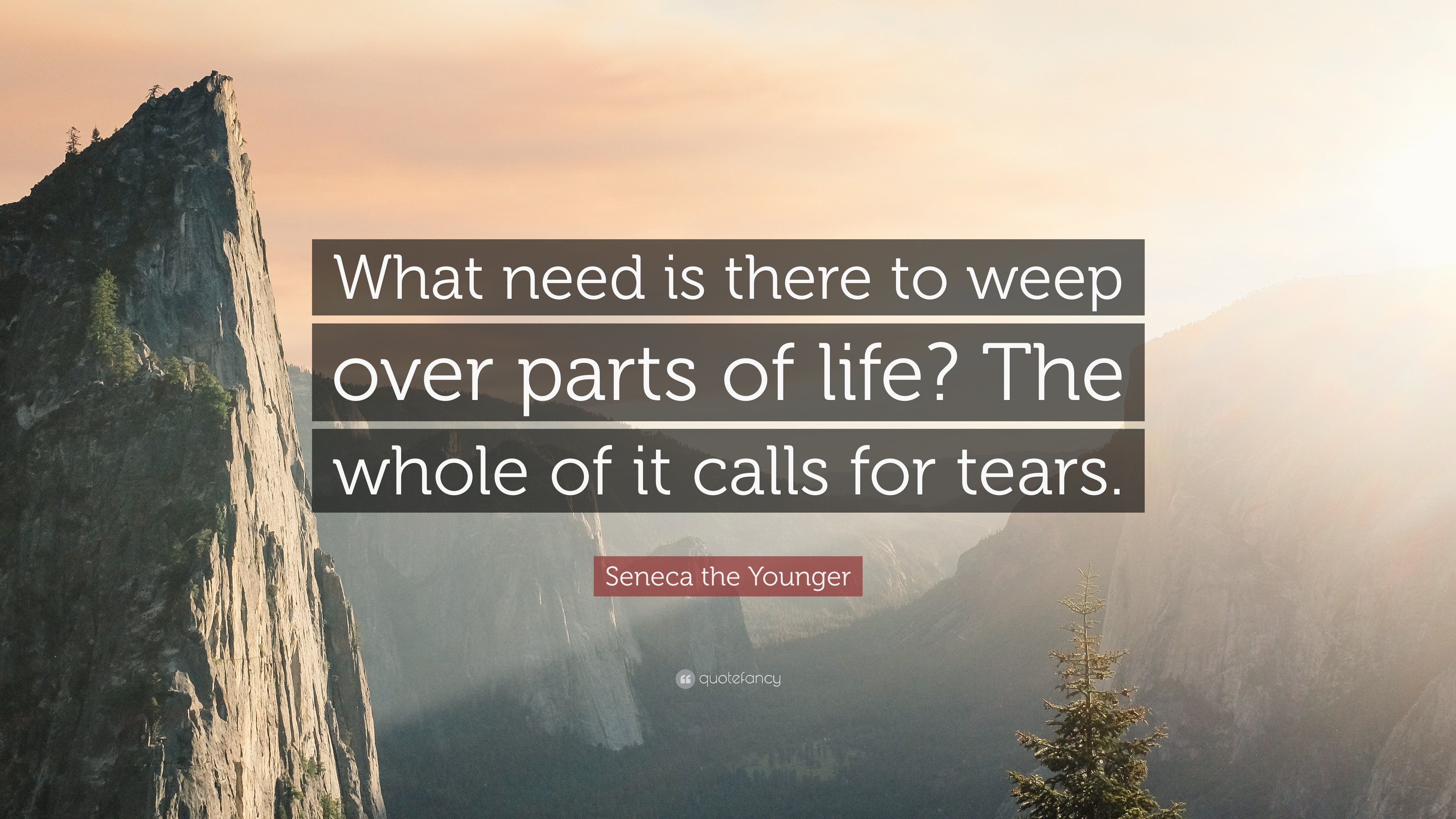 """What need is there to weep over parts of life? The whole of it calls for tears,"" – Seneca [3840 × 2160]"