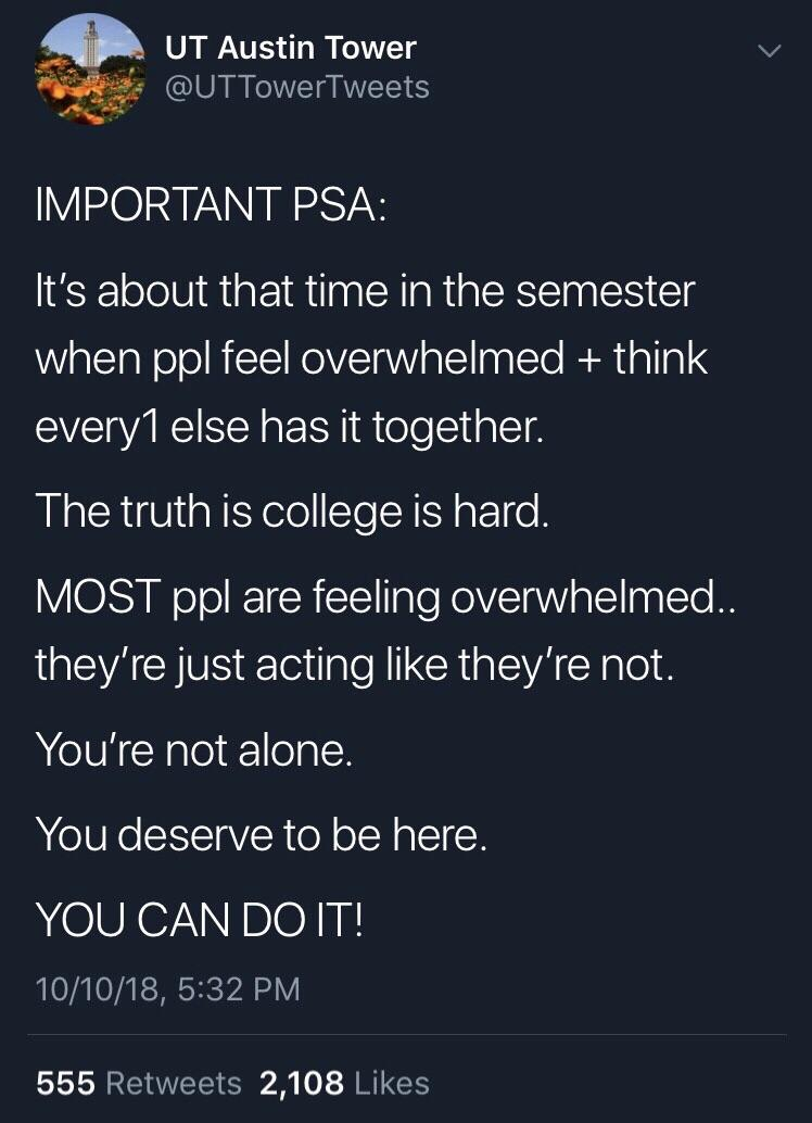 You can do this. You're not alone. Just keep going [Image]