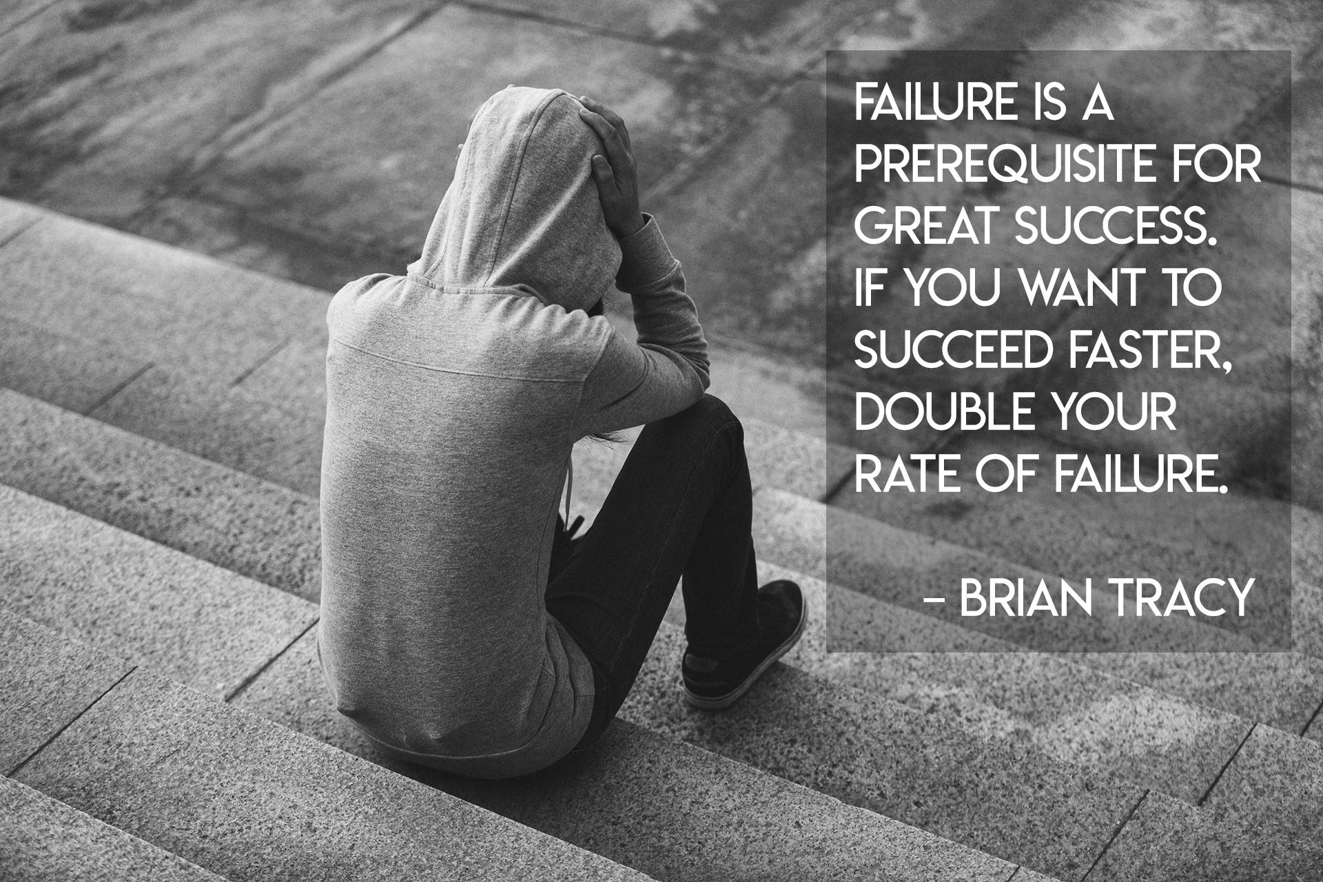 """Failure is a prerequisite for great success. If you want to succeed faster, double your rate of failure."" – Brian Tracy [1920×1280] [OC]"