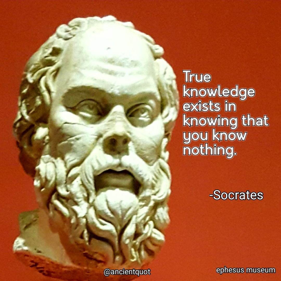 True knowledge exists in knowing that you know nothing. -Socrates [1080×1080]