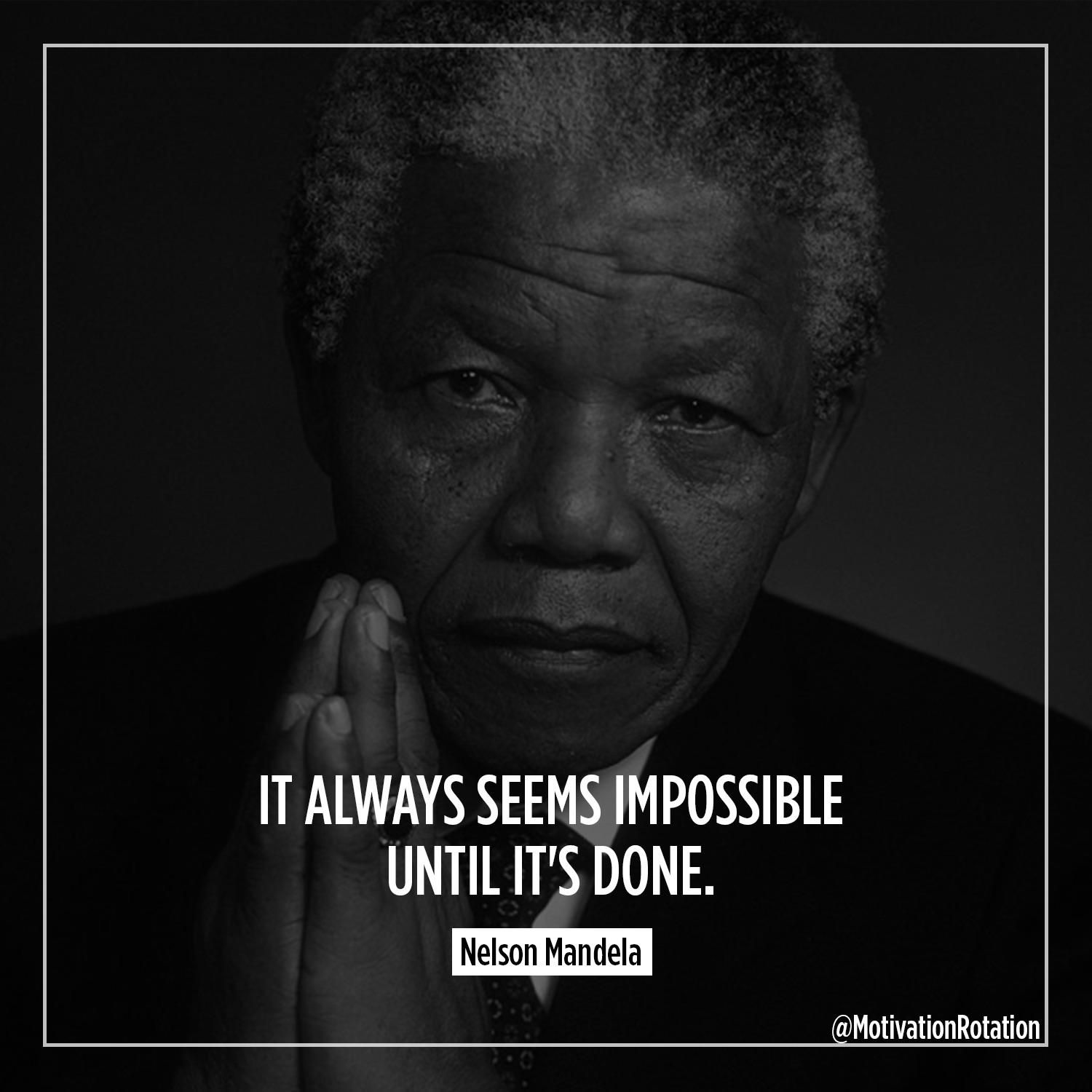 [Image] If anyone would know, it would be Mr. Mandela.
