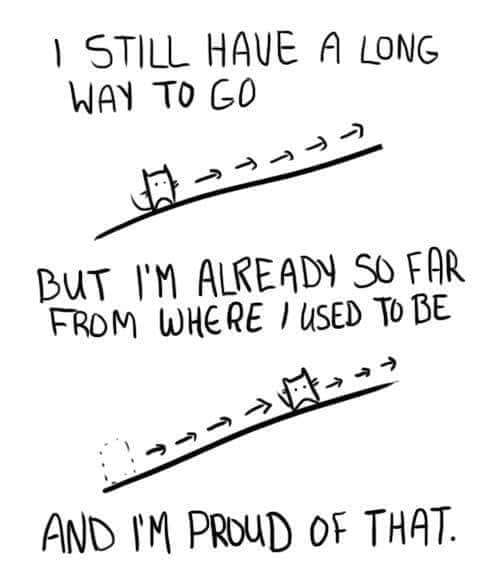 [Image] Don't forget how far you've come when looking at where you want to go!
