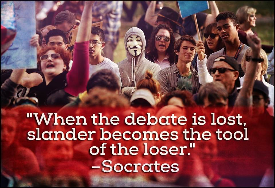 """When the debate is lost…"" –Socrates [1200 x 823]"