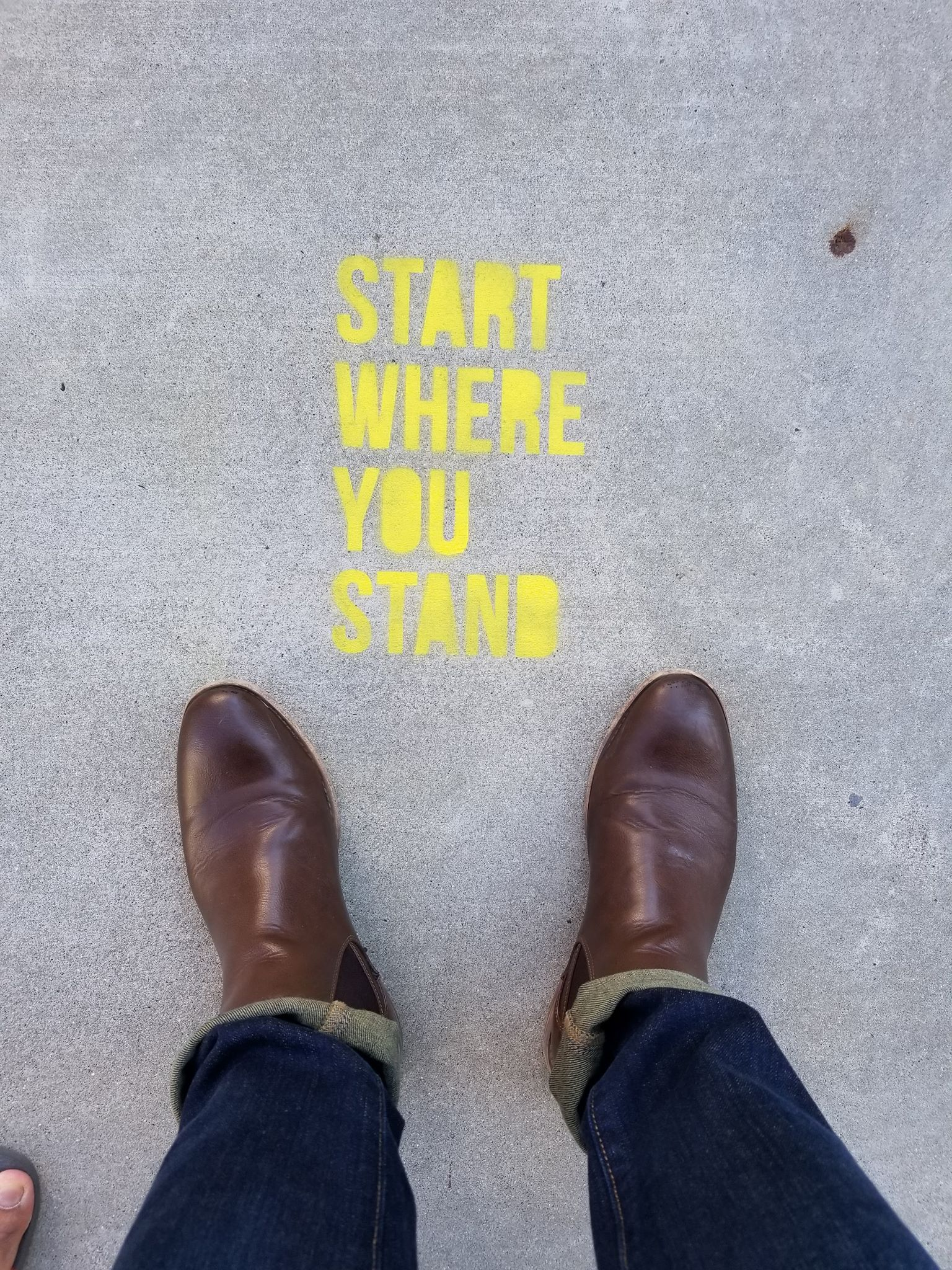 [Image] Start Where You Stand