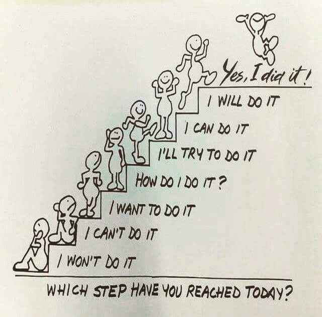 [Image] Take one step at a time.