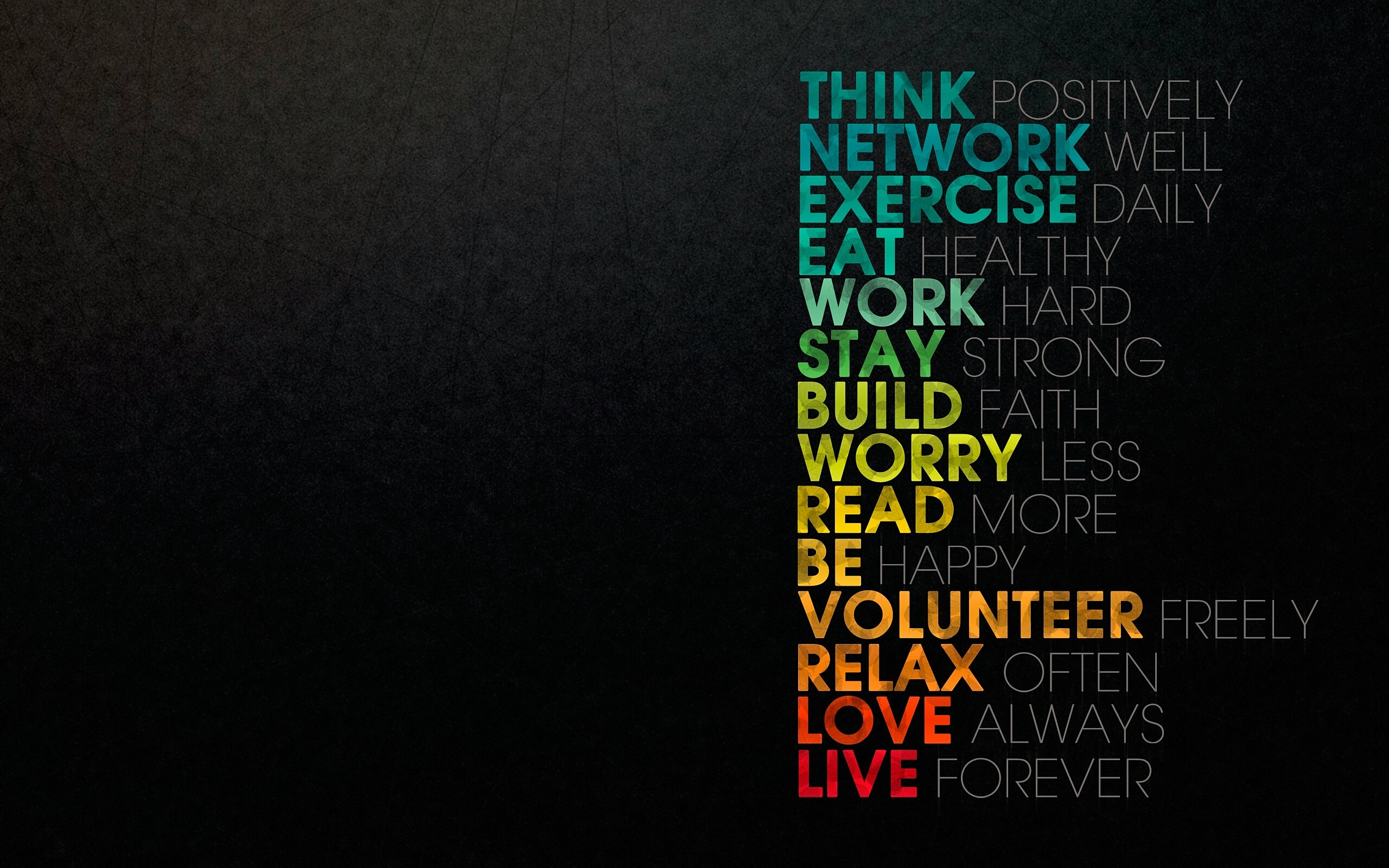 """Think positively , network well, exercise daily…"" by Anonymous[1600×1000]"