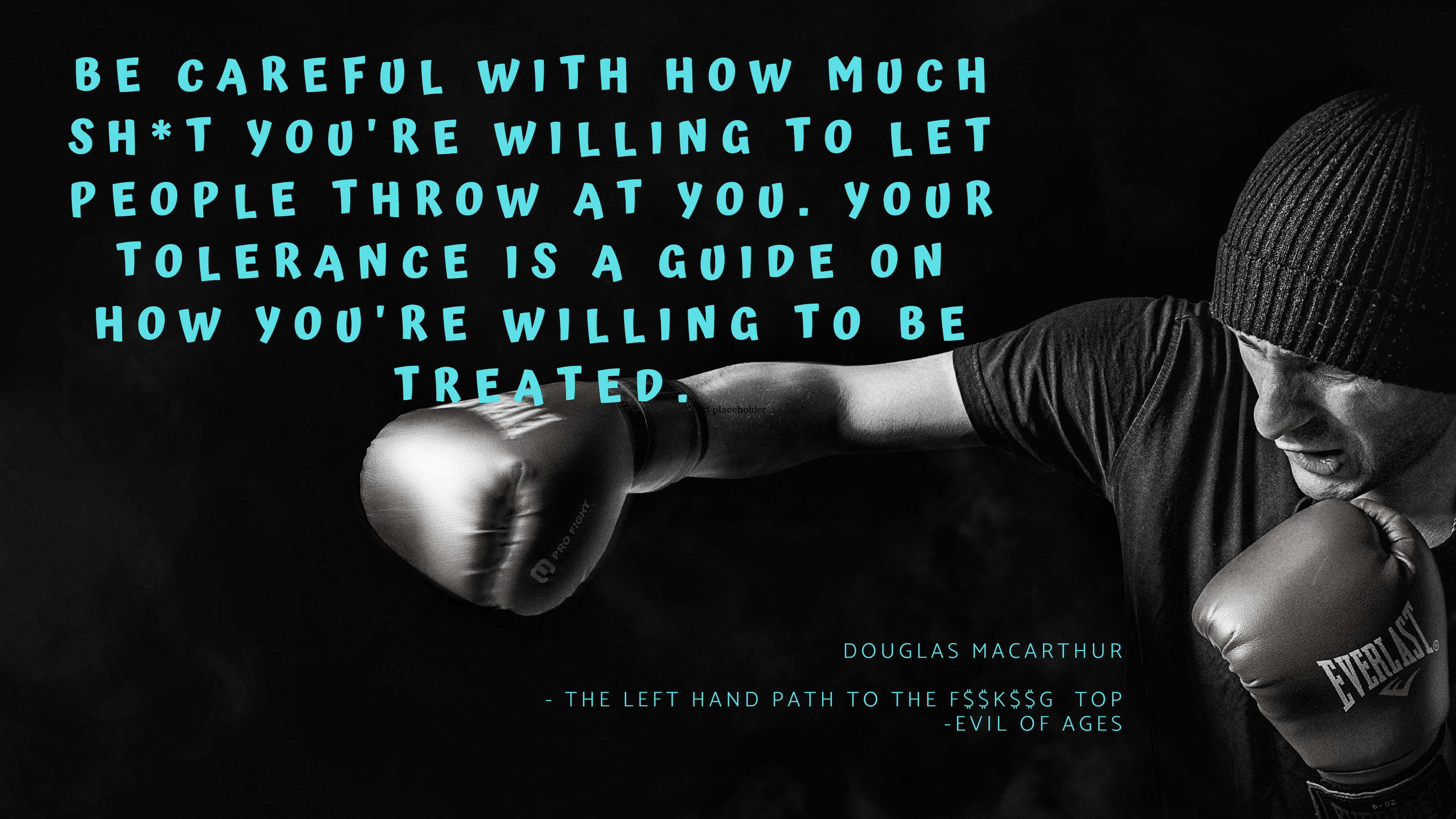 Be careful with – Douglas MacArthur [3840 x 2160] [OC]