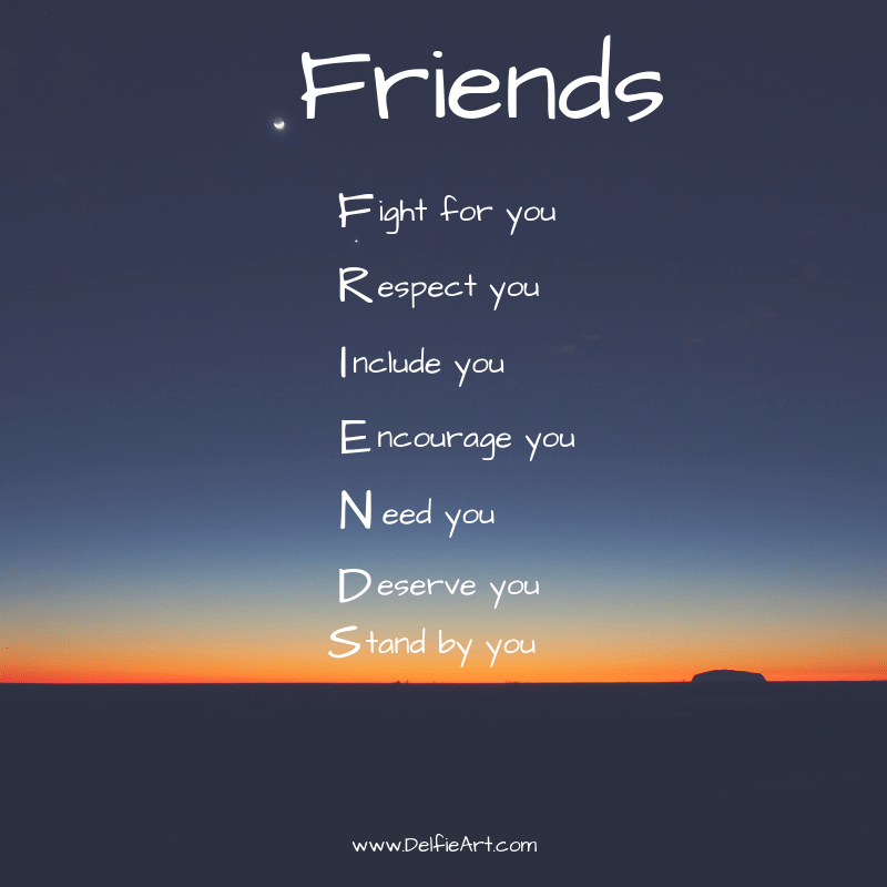 Friends: Fight for you, Respect you, … – Kim Grast [800×800]