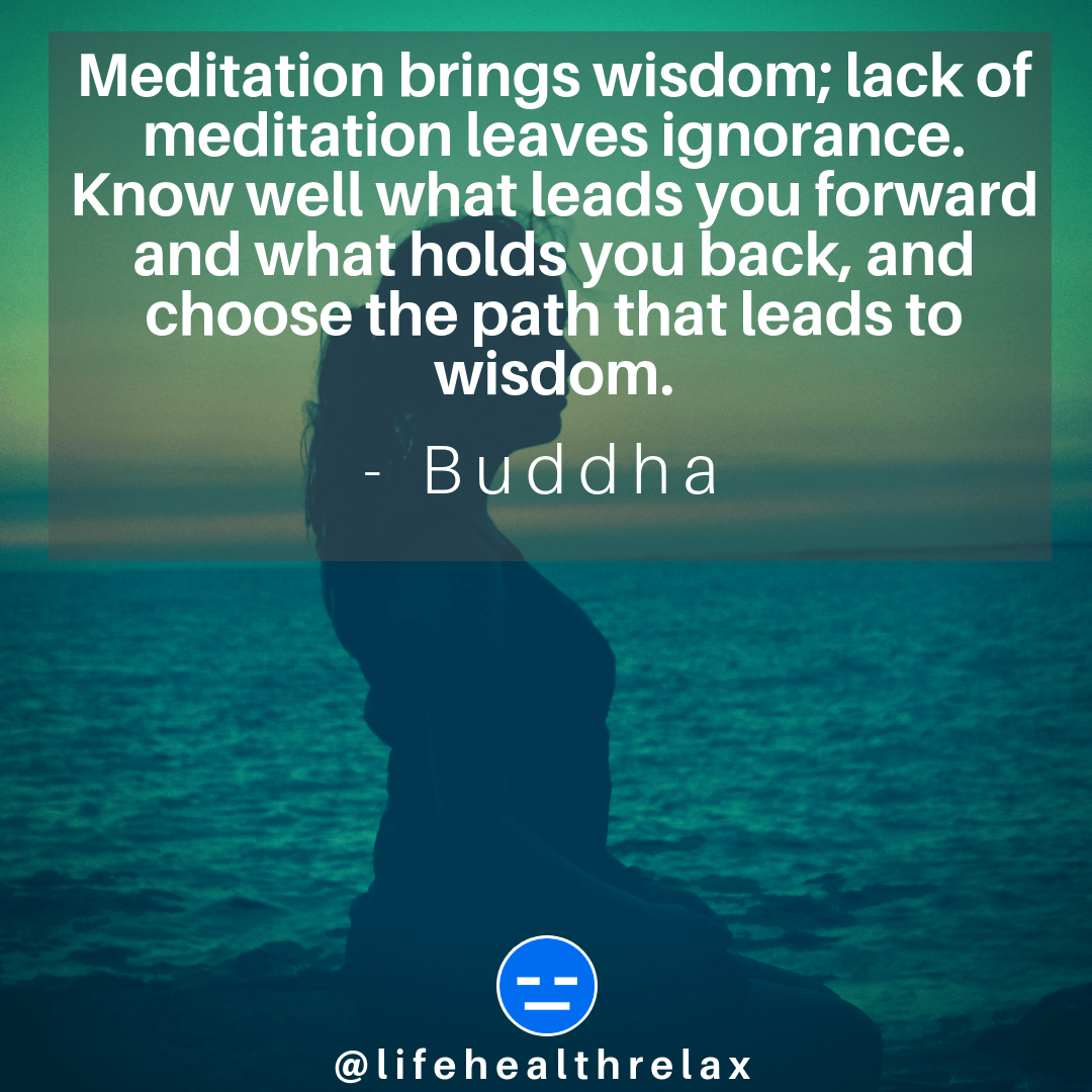 [Image] Meditation brings wisdom; lack of meditation leaves ignorance. Know well what leads you forward and what holds you back, and choose the path that leads to wisdom. – Buddha