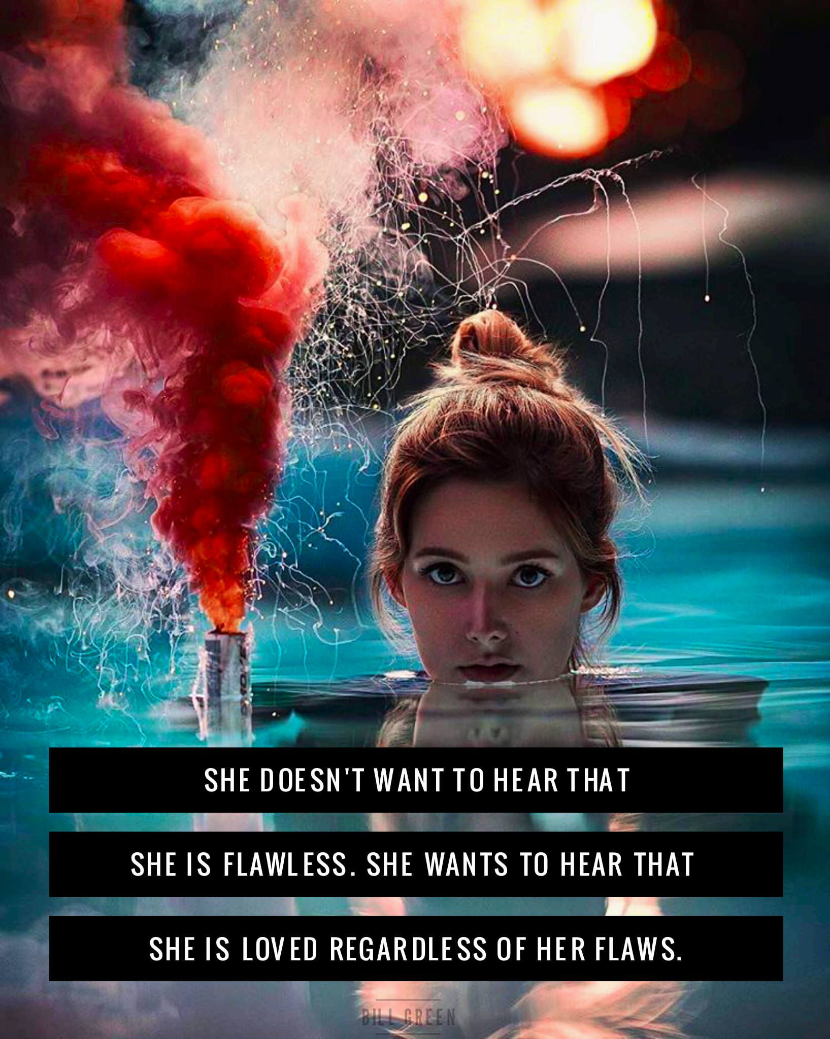 She doesn't want to hear that she is flawless… Bill Green IG @billgreeen [1635×2048]