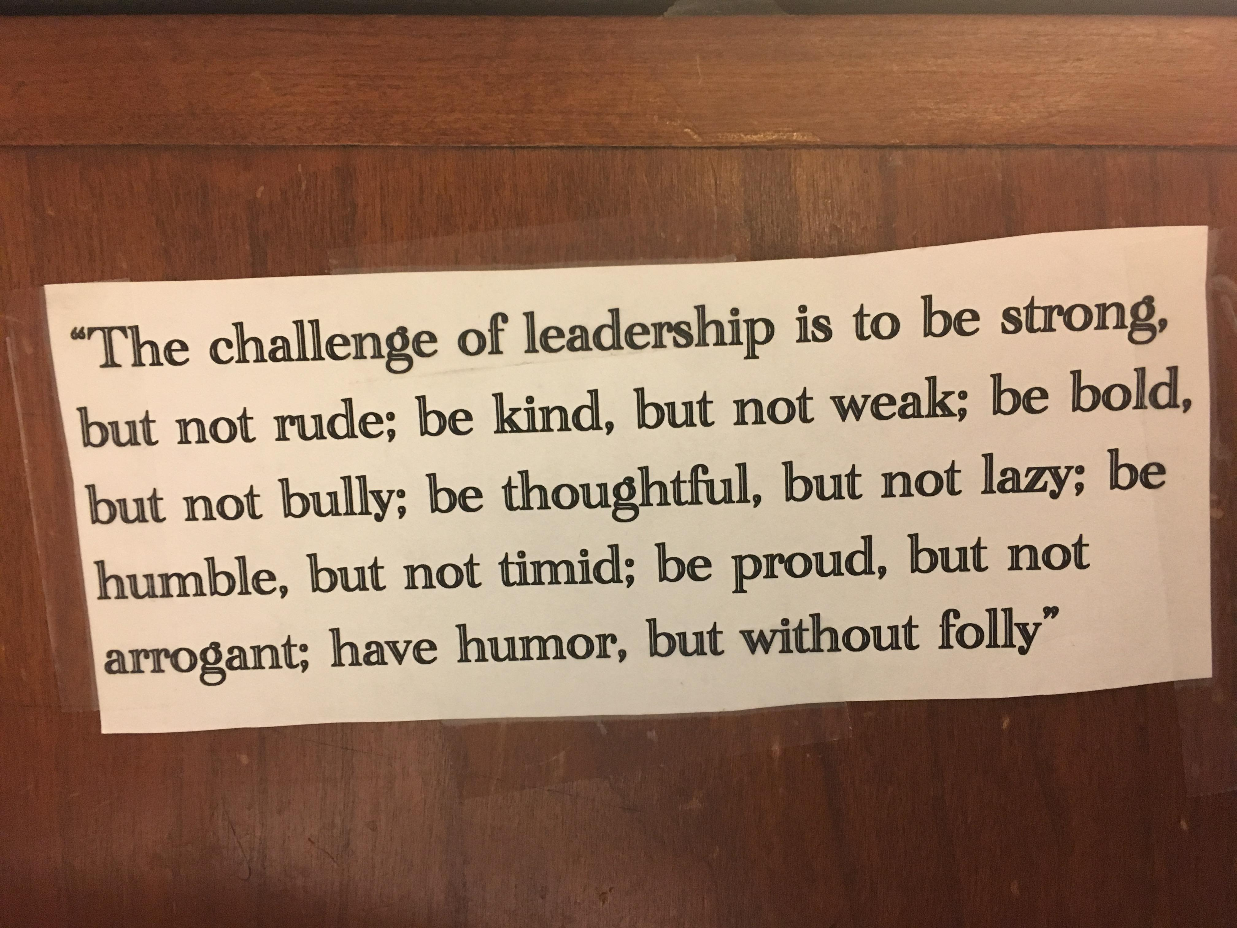 [Image] As Seen Taped To An Executive's Desk