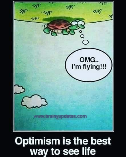 [Image] Optimism is the best way to see life..