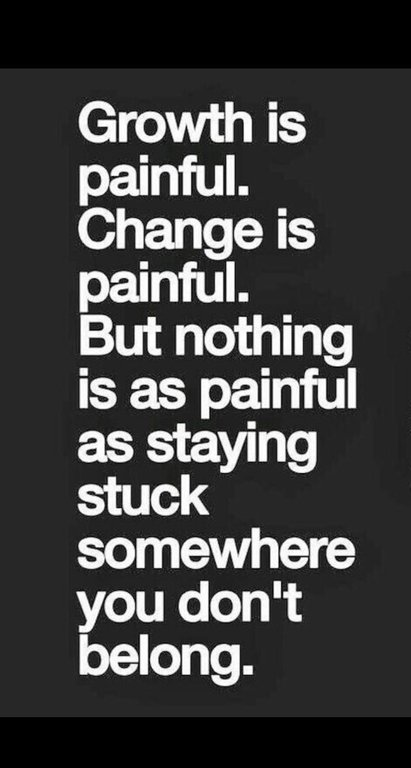 [Image] Nothing is as painful as staying stuck somewhere you don't belong