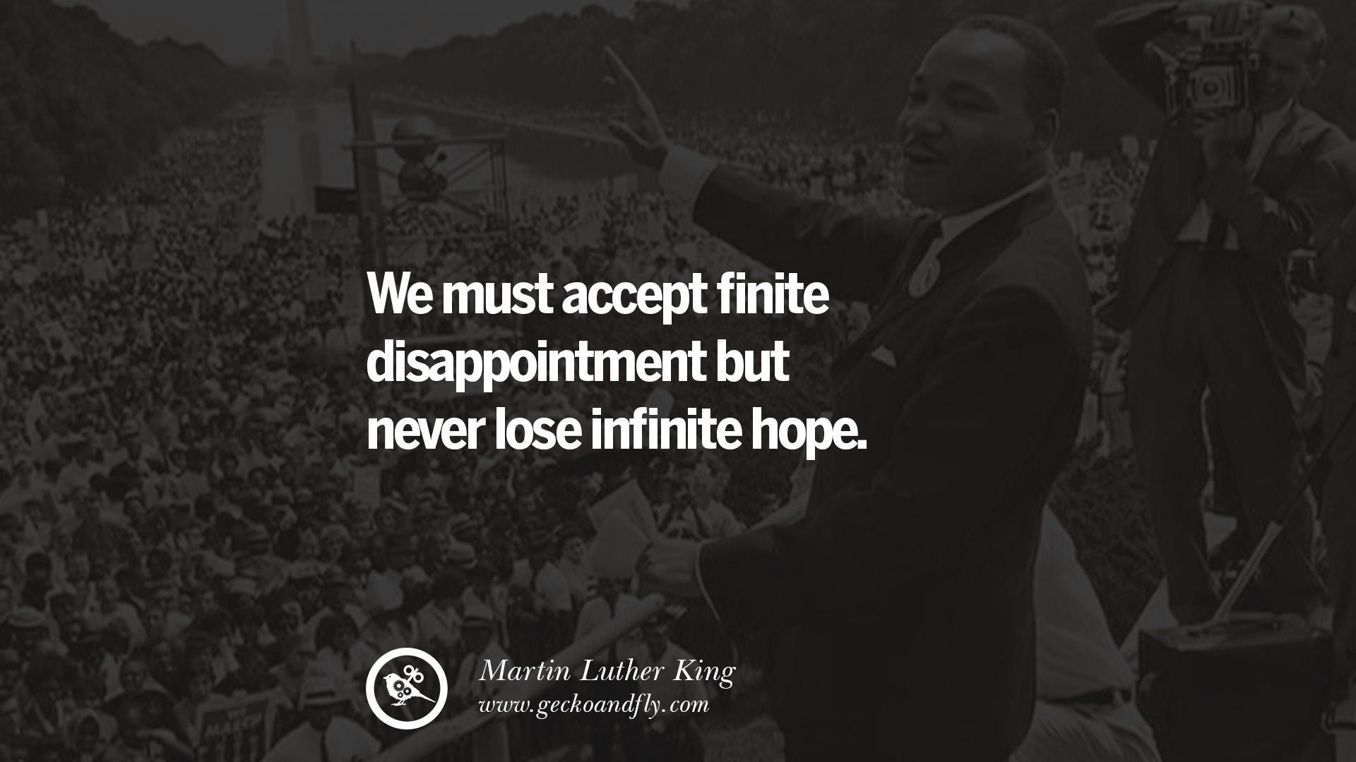 we must accept infinite disapointment but never lose infinte hope – martin lurther king junior [1200 x630]