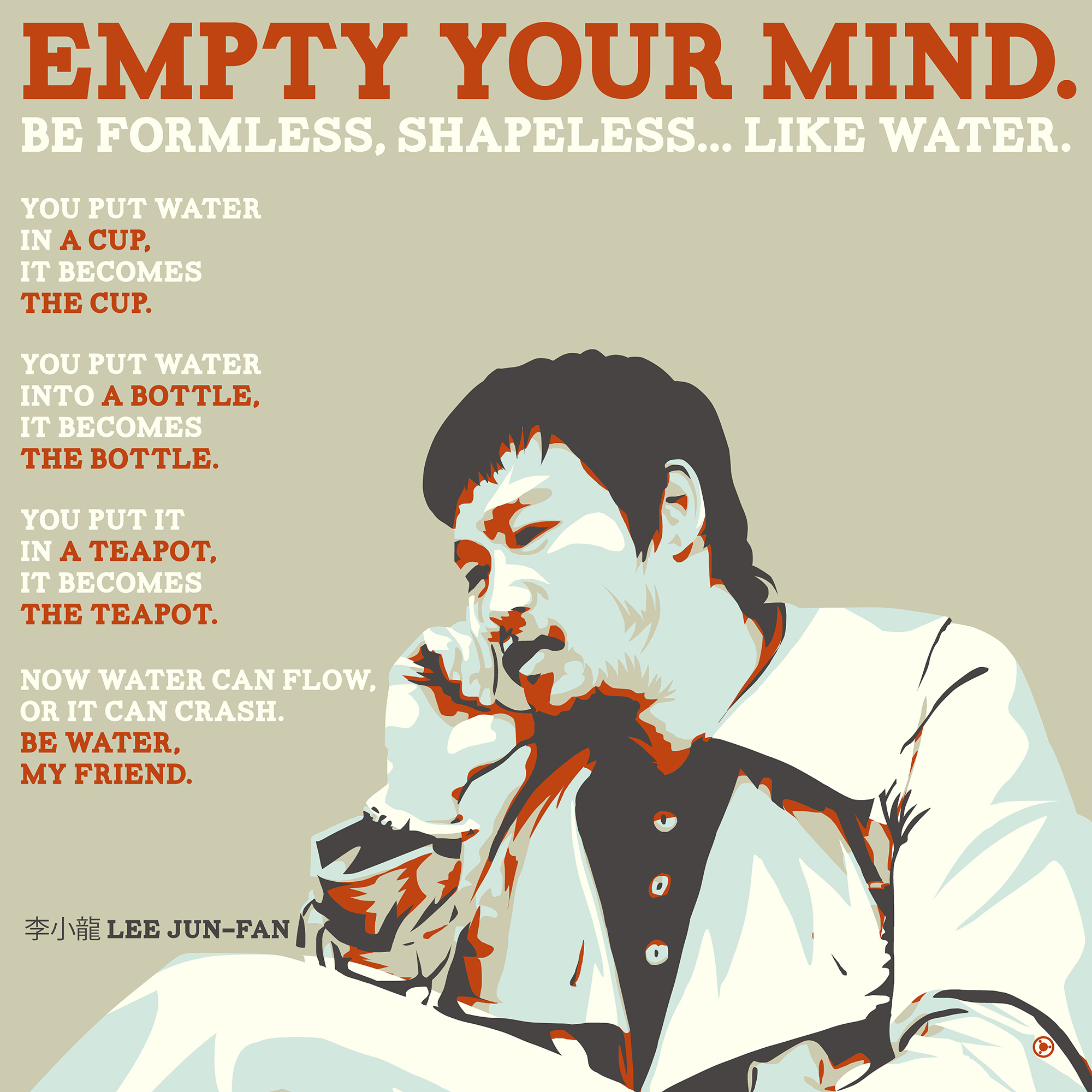 """Empty your mind…"" – Bruce Lee [2000×2000] [OC] [OS]"